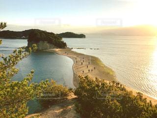 小豆島のエンジェルロード/夕暮れの写真・画像素材[1139963]
