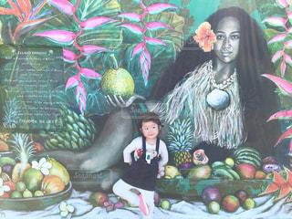 シドニー「ボンダイビーチ」ウォールアートツアー。タヒチの女性のアートの写真・画像素材[1214131]