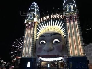 シドニー「ルナパーク」ライトアップの写真・画像素材[1214155]