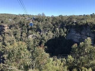 オーストラリア世界遺産「ブルーマウンテン」シーニックワールドのケーブルカーの写真・画像素材[1214212]