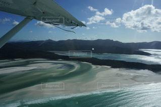 ホワイトヘブンビーチ上空、ヒルインレットの写真・画像素材[1220573]