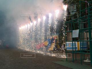 ナイアガラ花火の写真・画像素材[1244747]