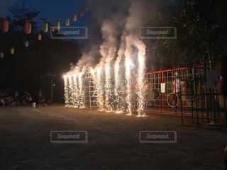 ナイアガラ花火の写真・画像素材[1244835]