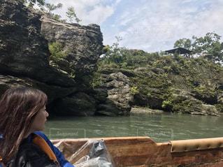 長瀞岩畳の舟下りの写真・画像素材[752659]