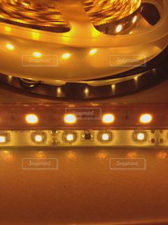 LEDライトのクローズアップの写真・画像素材[2345185]