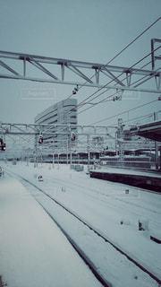 雪の日の線路 - No.749618