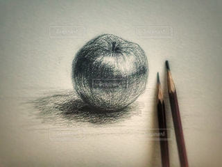 林檎のデッサンの写真・画像素材[800096]