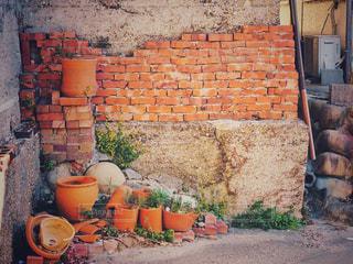 レンガの壁の写真・画像素材[975113]