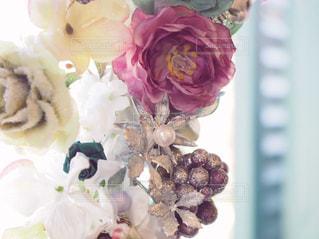 造花のリースの写真・画像素材[1005329]