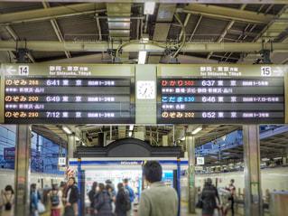 新幹線のホームの写真・画像素材[1006101]