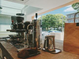 カフェのコーヒーマシンの写真・画像素材[1162473]
