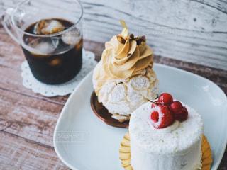ケーキとコーヒーでおうちカフェの写真・画像素材[1264969]