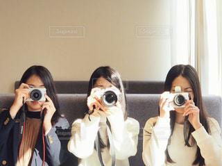 カメラ女子の写真・画像素材[1821124]