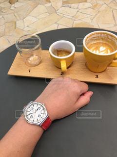 珈琲と時計との写真・画像素材[790252]