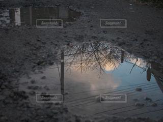 水たまりにうつる青空の写真・画像素材[965114]
