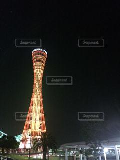 ライトアップされたポートタワーの写真・画像素材[901240]