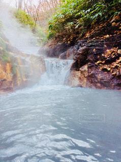 大湯沼足湯の写真・画像素材[855520]