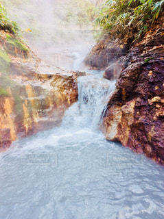 大湯沼足湯の写真・画像素材[855521]