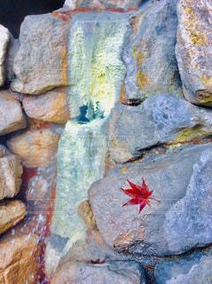温泉と紅葉の写真・画像素材[855551]