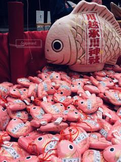 ピンク色の鯛の写真・画像素材[1115625]