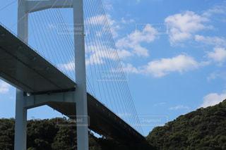 橋の上を飛んでいる鳥の写真・画像素材[1564885]