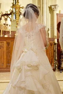 ウェディング ドレスの人の写真・画像素材[753478]