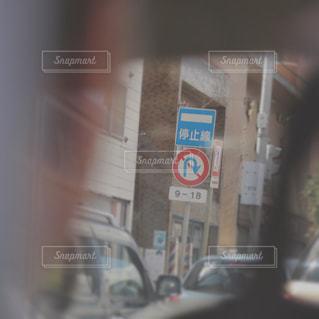 タクシーから眺める標識 - No.747604