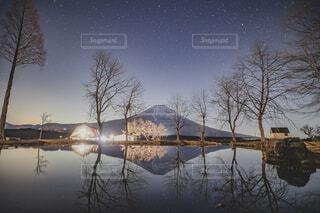 湖の眺めの写真・画像素材[4292277]
