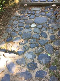 石 石畳 石階段 風景 森林の写真・画像素材[639644]
