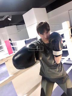 ボクシングトレーニングの写真・画像素材[1001185]