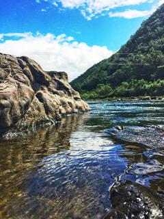 四万十川の夏の写真・画像素材[1387824]