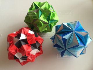 折り紙の花まりの写真・画像素材[644185]