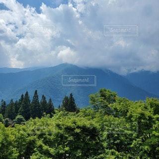 真夏の山の写真・画像素材[3556918]