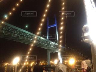 船上からの横浜ベイブリッジ♪の写真・画像素材[1633642]