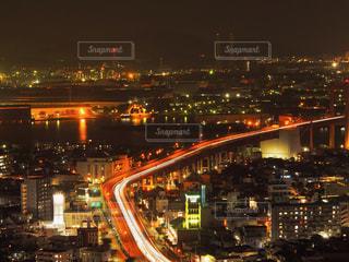 夜の街の景色の写真・画像素材[762283]