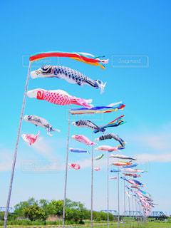 空に凧の飛行の人々 のグループの写真・画像素材[762287]