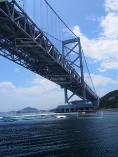 水の体の上を橋を渡る列車の写真・画像素材[771688]