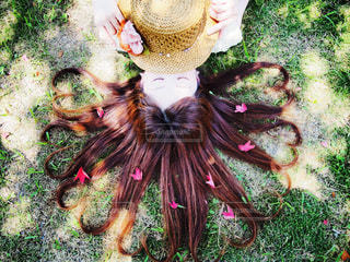 髪の毛ハートの写真・画像素材[1384060]
