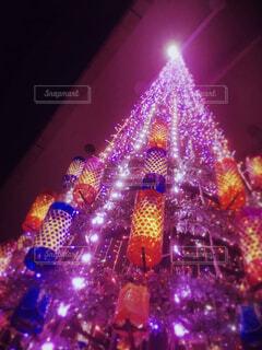 夜に明るくした街の写真・画像素材[4561819]