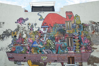 世界遺産ジョージタウンのストリートアートの写真・画像素材[960531]