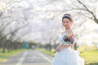 ピンクのドレスの女の子の写真・画像素材[1210436]