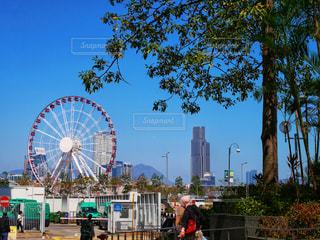香港島の観覧車の写真・画像素材[1205354]
