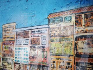 建物の側面のアートの写真・画像素材[1205372]
