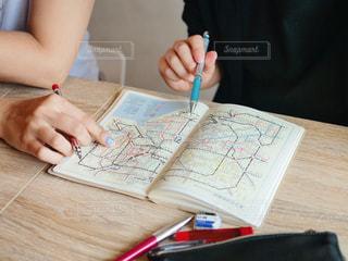 路線図でお出かけ計画中♫の写真・画像素材[1327239]