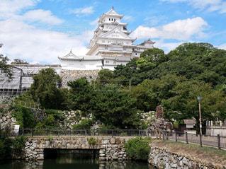 お堀と姫路城の写真・画像素材[1669179]