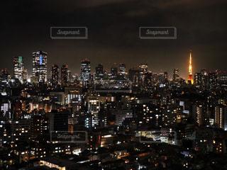 昔ながらの東京タワーの写真・画像素材[1689368]