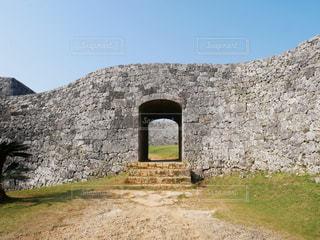 座喜味城跡の写真・画像素材[2022433]