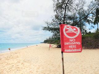 浜辺の看板の写真・画像素材[2210137]