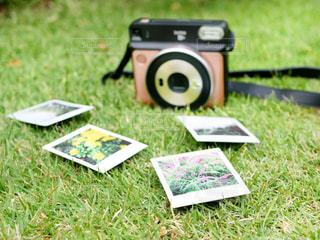 芝生の椅子のカップルが草で覆われた畑の上に座っているの写真・画像素材[3206724]