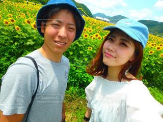 ひまわり畑🌻の写真・画像素材[1147408]